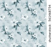 romantic seamless pattern with... | Shutterstock . vector #561468754