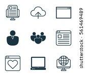 set of 9 internet icons....
