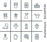 set of 16 agriculture icons.... | Shutterstock . vector #561469534