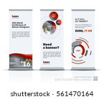 abstract business vector set of ... | Shutterstock .eps vector #561470164