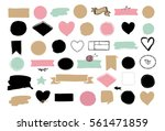 set of hand drawn shapes  ... | Shutterstock .eps vector #561471859
