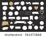 set of hand drawn shapes  ... | Shutterstock .eps vector #561471868