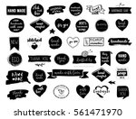 hand drawn vector   handmade ... | Shutterstock .eps vector #561471970