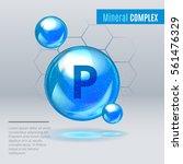 mineral p phosphorus blue...   Shutterstock .eps vector #561476329