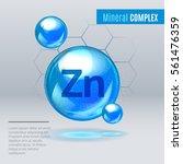 mineral zn zink blue shining... | Shutterstock .eps vector #561476359