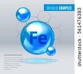 mineral fe ferum blue shining... | Shutterstock .eps vector #561476383