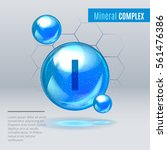 mineral i iodine  iodum blue...   Shutterstock .eps vector #561476386