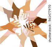 teamwork  cooperation ... | Shutterstock .eps vector #561477970