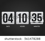 countdown timer. clock counter. ... | Shutterstock .eps vector #561478288