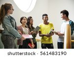 education students people... | Shutterstock . vector #561483190