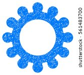 cog grainy textured icon for... | Shutterstock . vector #561483700
