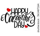 """happy valentine's day""... | Shutterstock .eps vector #561487264"