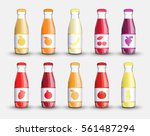 set juice in a transparent...   Shutterstock . vector #561487294