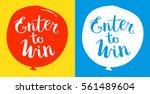 enter to win vector sign set | Shutterstock .eps vector #561489604