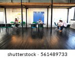 young startup group working in... | Shutterstock . vector #561489733