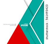 abstract template with clean... | Shutterstock .eps vector #561493423