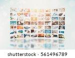 multimedia video wall... | Shutterstock . vector #561496789