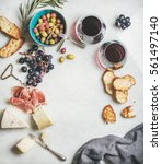Wine And Snack Set. Variety Of...