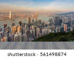 opening wooden floor  hong kong ...   Shutterstock . vector #561498874