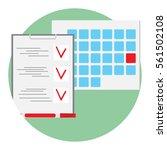 be on time deadline icon vector.... | Shutterstock .eps vector #561502108