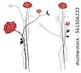 bouquet of roses  vector...   Shutterstock .eps vector #561506233