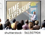 don't waste your time concept | Shutterstock . vector #561507904