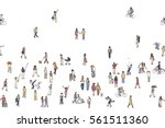 seamless banner of tiny people  ...