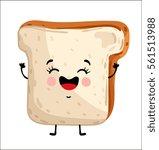 cute toast bread cartoon...   Shutterstock .eps vector #561513988