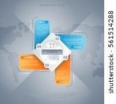 abstract infographics concept...   Shutterstock .eps vector #561514288