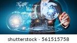 businessman moving digital... | Shutterstock . vector #561515758