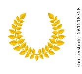 gold laurel wreath icon... | Shutterstock .eps vector #561518758