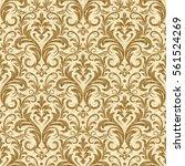 damask seamless pattern for... | Shutterstock .eps vector #561524269