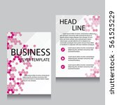 vector brochure flyer design... | Shutterstock .eps vector #561525229
