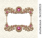 vintage card with diamond... | Shutterstock .eps vector #561528523