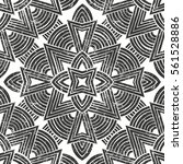 seamless tribal pattern with... | Shutterstock .eps vector #561528886