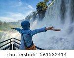 iguazu falls  7 wonder of the... | Shutterstock . vector #561532414