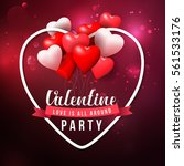 valentine's day party and... | Shutterstock .eps vector #561533176