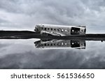 twisted wreckage from an... | Shutterstock . vector #561536650