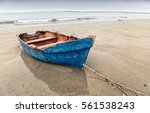 Old Blue Rowing Boat ...