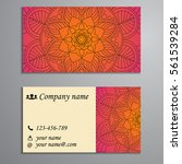 invitation  business card or... | Shutterstock .eps vector #561539284