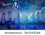 financial data on a monitor as... | Shutterstock . vector #561545266