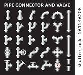 vector icon of steel pipe... | Shutterstock .eps vector #561546208