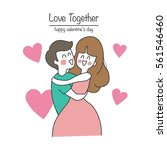 couple love  valentine concept | Shutterstock .eps vector #561546460