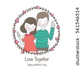 couple love  valentine concept | Shutterstock .eps vector #561546514