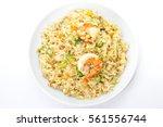 asian food   shrimp fried rice... | Shutterstock . vector #561556744