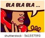 pop art style comic book panel... | Shutterstock .eps vector #561557593