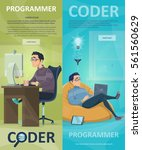 technology programming vertical ... | Shutterstock .eps vector #561560629