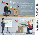 business workplace horizontal... | Shutterstock .eps vector #561561298