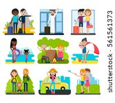 family vacation collection with ... | Shutterstock .eps vector #561561373