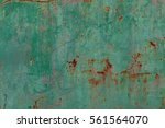Rusty Surface Of Green Metal...
